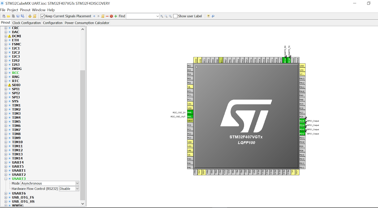 My STM32F4-Discovery: STM32F4-Discovery UART with STM32CubeMX