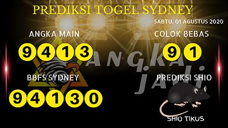Prediksi Angka Jitu Sydney Sabtu 01 Agustus 2020