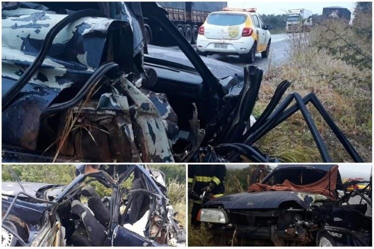 Acidente grave entre carreta e carro deixa três vítimas fatais na Chapada Diamantina