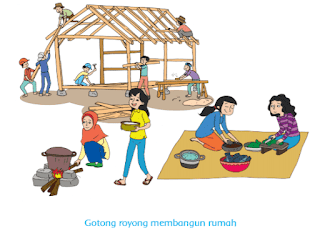 Gotong royong membangun rumah www.simplenews.me