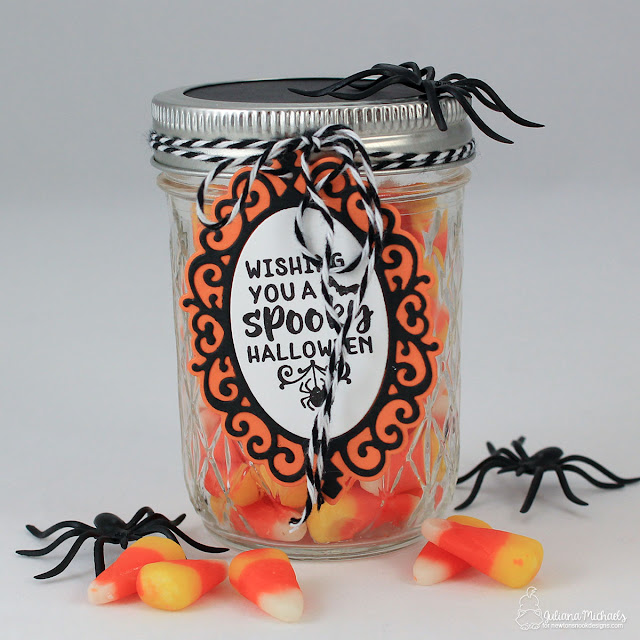 Halloween Party Favor by Juliana Michaels featuring Newton's Nook Designs Creepy Cameo Stamp Set and Cameo Frame Die