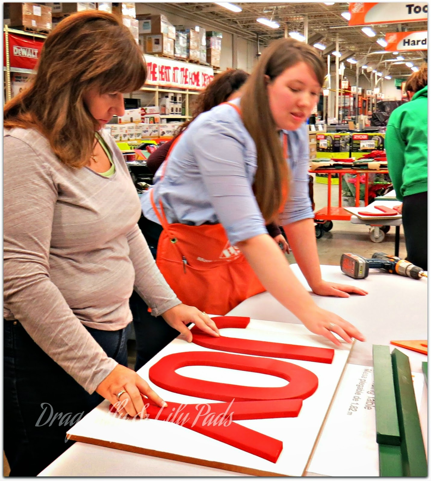 Do it Herself Workshop, Joy Marquee Sign , Building, Behr Marquee Paint,