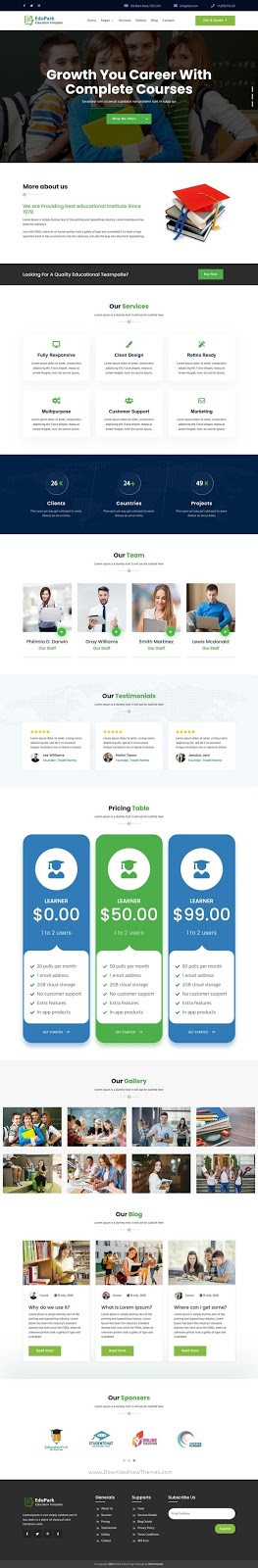 Education HTML5 Responsive Template