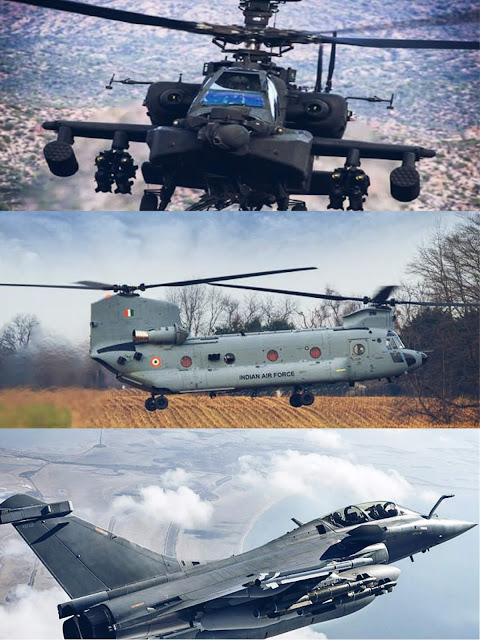 Rafel Aircraft,Apache Helicopter,Chinook Helicopter