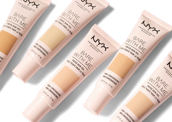 NYX Bare With Me Tinted Skin Veil Foundation Review Photos Swatches Before After MAC Equivalents