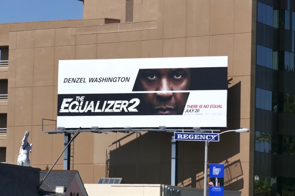 Equalizer 2 film billboard