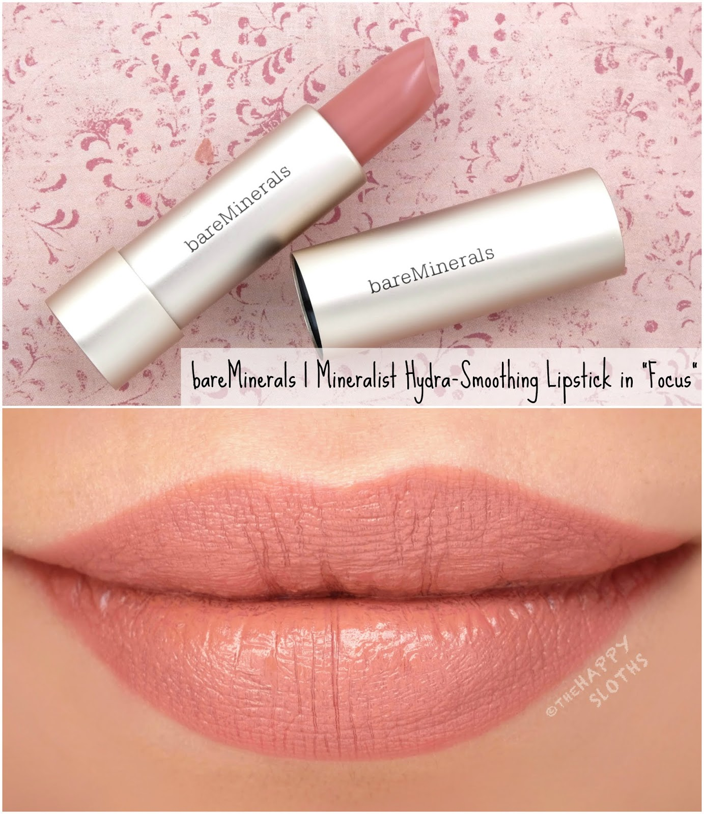 "bareMinerals | Mineralist Hydra-Smoothing Lipstick in ""Focus"": Review and Swatches"