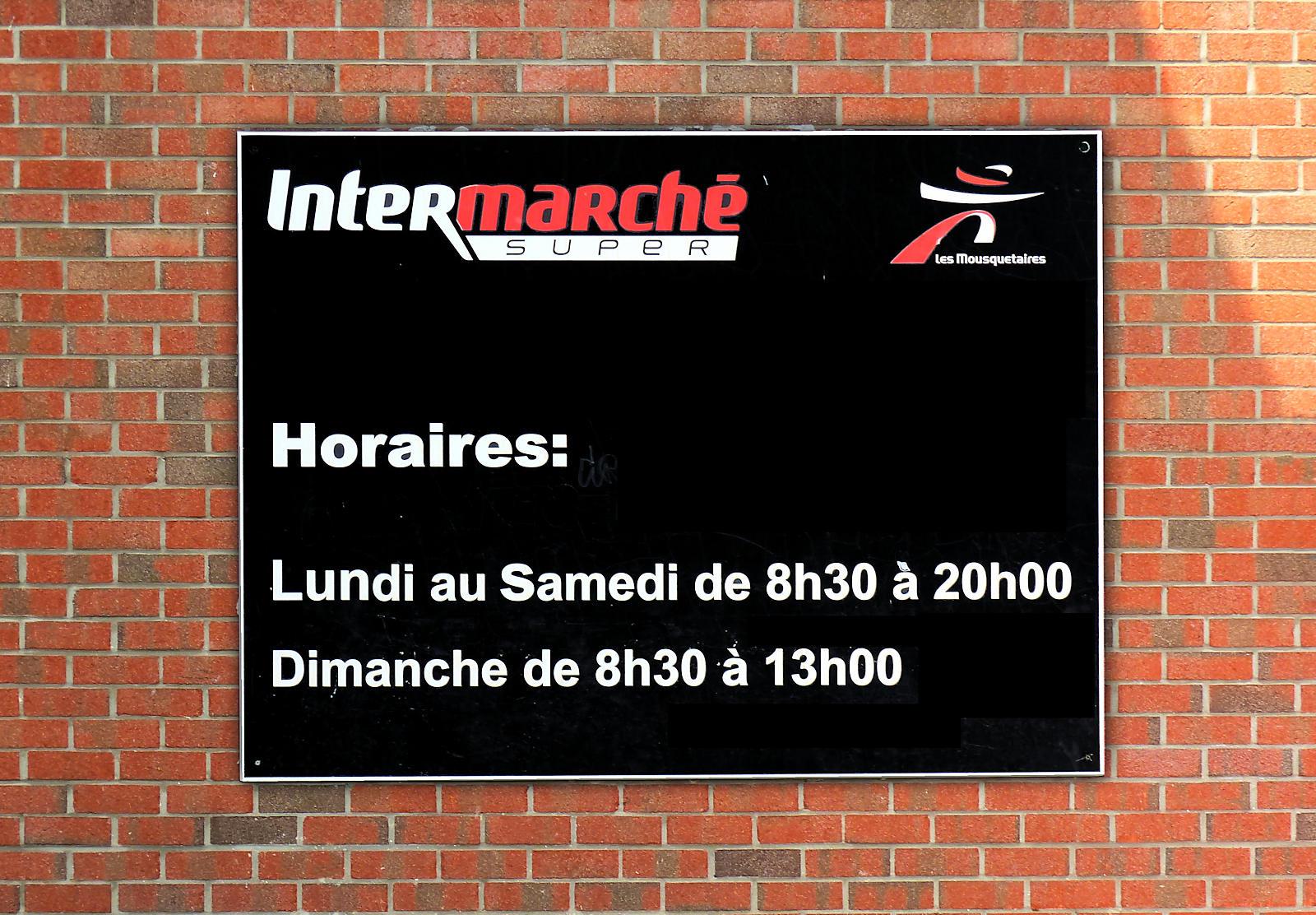 Intermarché Super et Drive Tourcoing - Horaires d'ouverture
