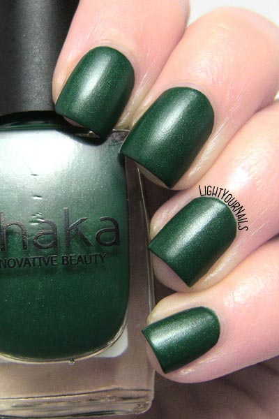Smalto Shaka Green Forest Matt nail polish