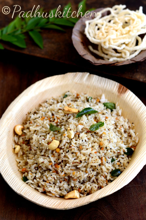 Pepper Cumin Rice-Milagu Jeeraga Sadam