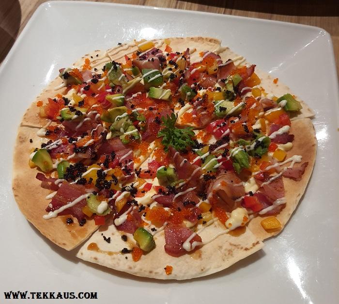 Wa Zen Menu Bacon Pizza