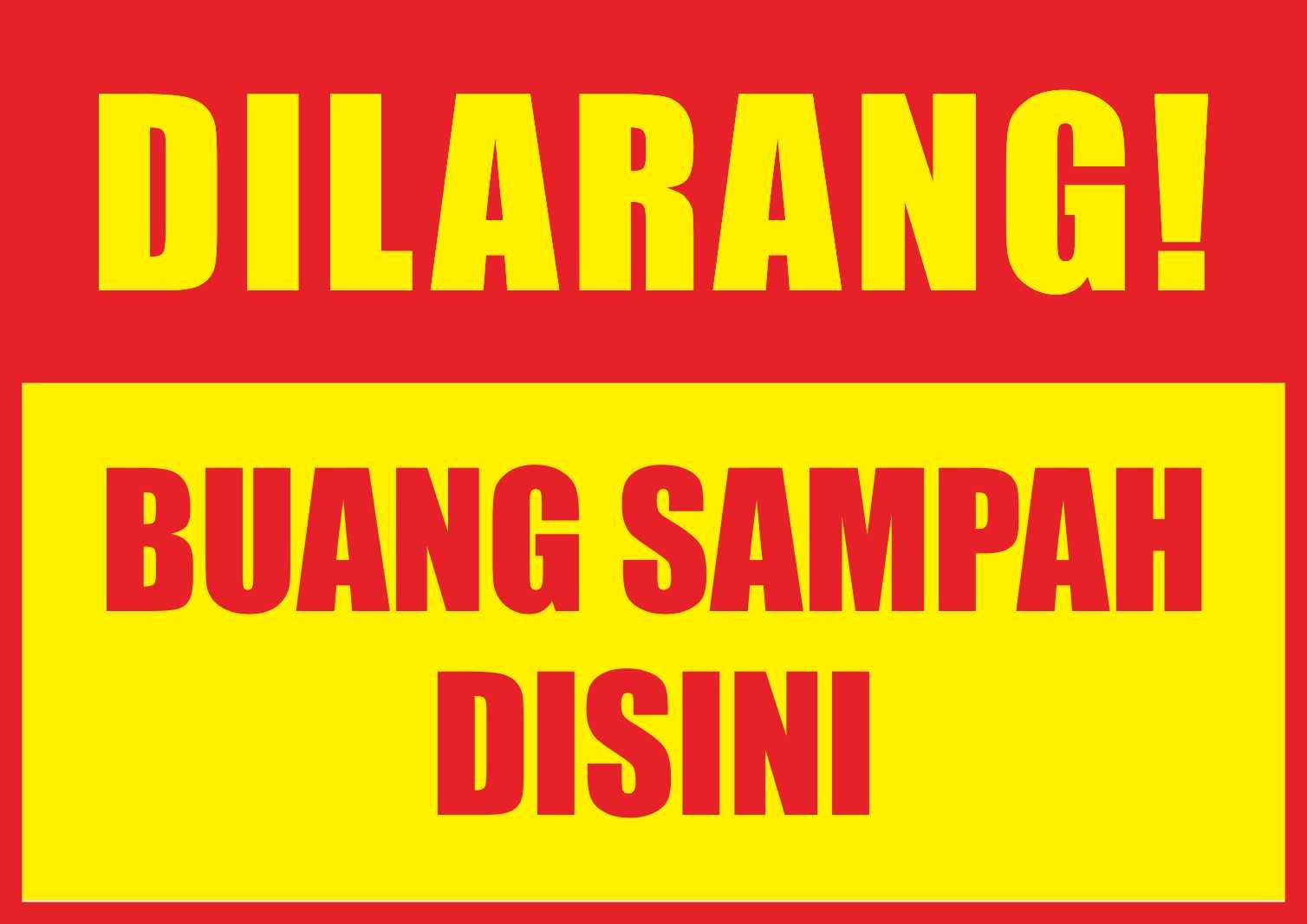banner dilarang buang sampah