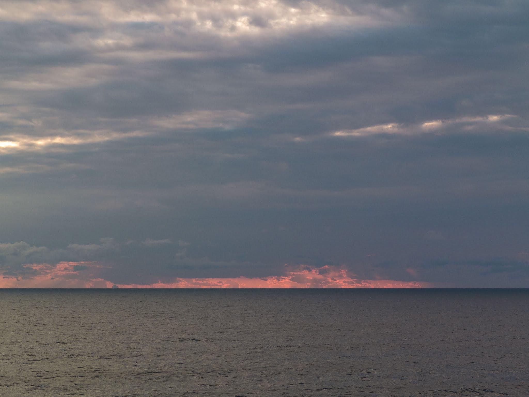 Sunset landscape of the Balearic Sea.