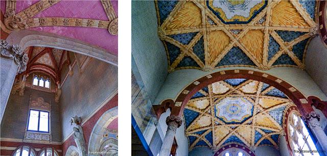 Decoração do Pavilhão da Administração do Hospital Sant Pau