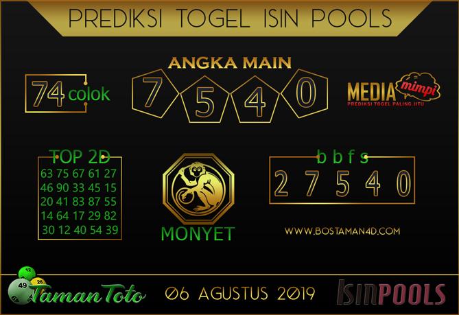 Prediksi Togel ISIN TAMAN TOTO 06 AGUSTUS 2019