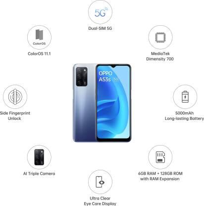 Oppo A53s 5G फोन सबसे सस्ता 5G फोन है जिसे फ्लिपकार्ट मोबाइल से खरीदा जा सकता है