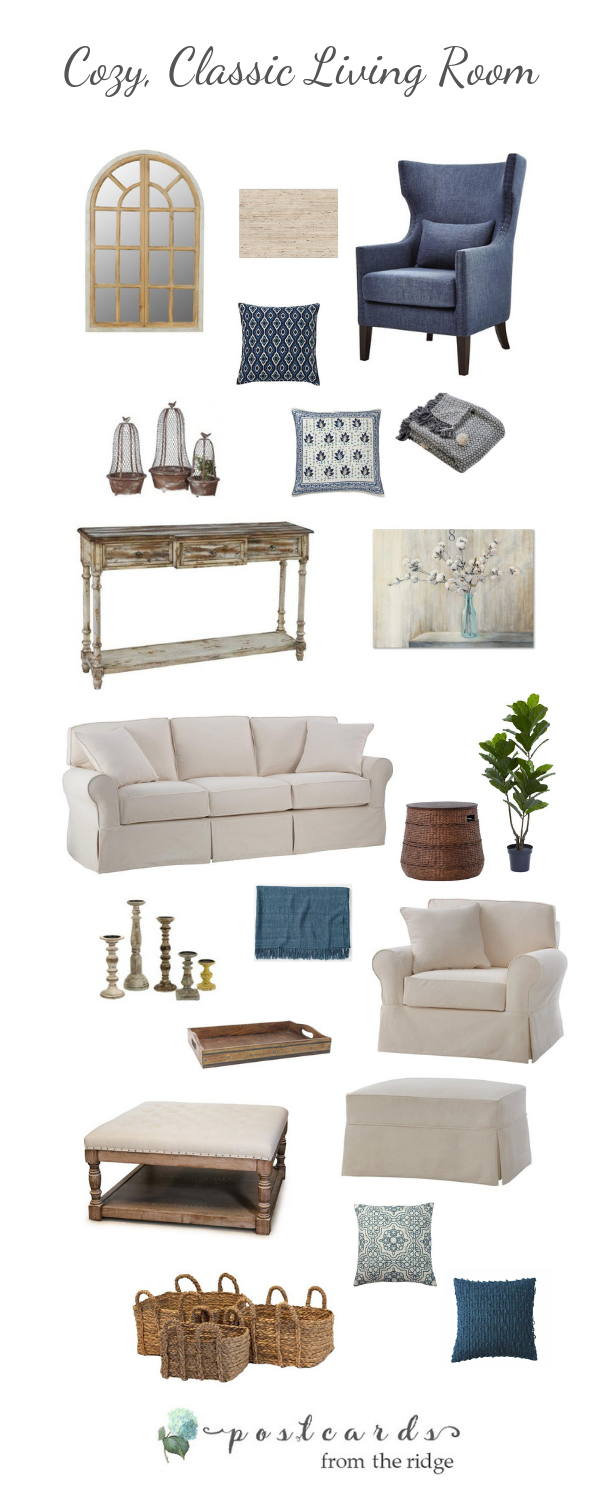 casual living room furniture and decor