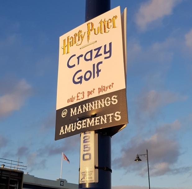 Harry Putter Crazy Golf in Felixstowe