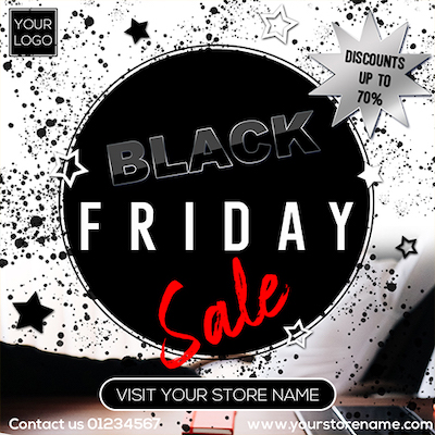 Black Friday sale instagram banner psd