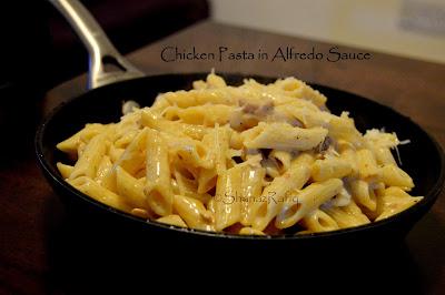 Chicken Pasta In Alfredo Sauce
