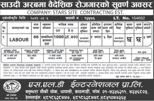 Jobs For Nepali In Saudi Arabia,