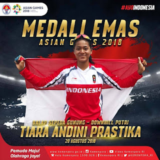 Emas Untuk Indonesia Cabang Sepeda MTB mountain bike Gunung Downhill Asian Games 2018 - 2