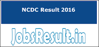 NCDC Junior Assistant Result 2016
