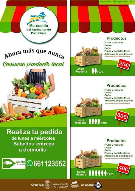 El Mercadillo Municipal de Puntallana hará entregas a domicilio