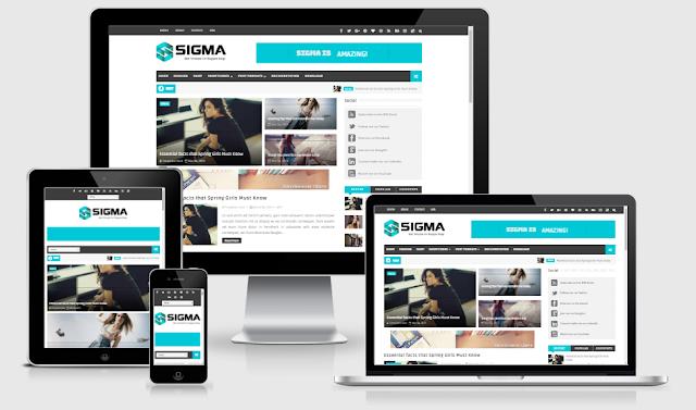 Sigma Responsive Blogger Template