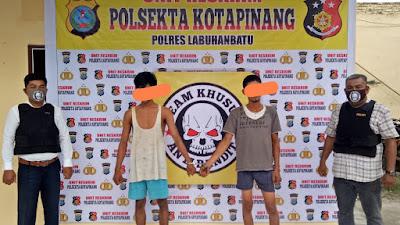 Tekab Polsekta Kotapinang Grebek Rumah Kosong, Dua Warga Kotapinang Ditangkap