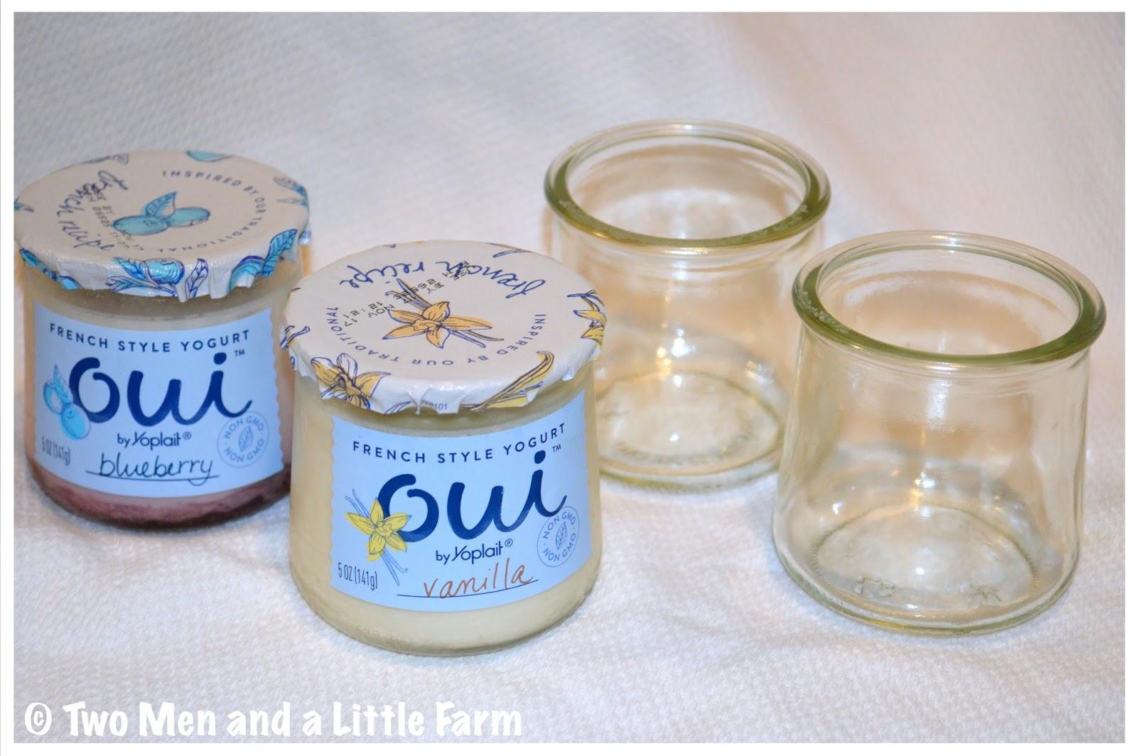 Two Men And A Little Farm Oui Yogurt Glass Jars