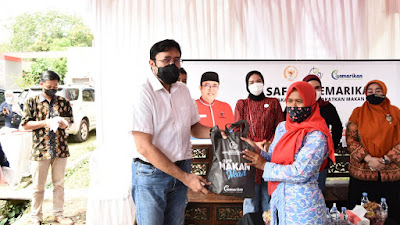 Ono Surono Salurkan Bantuan Gemarikan ke Warga Indramayu dan Cirebon