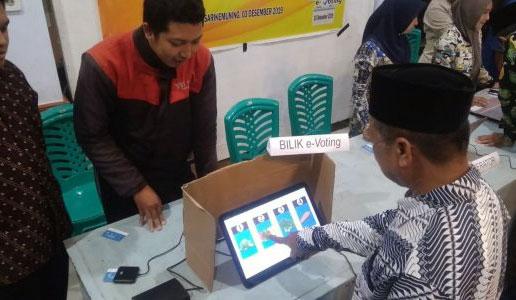 Simulasi Pilkades secara e-voting