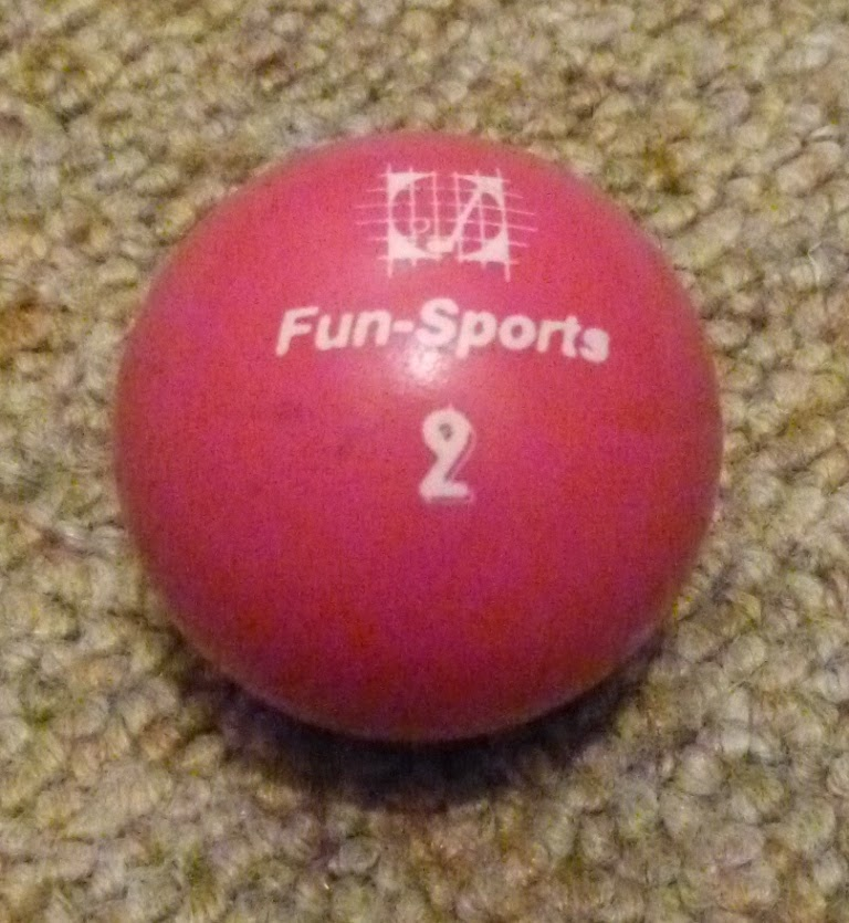 A Fun-Sports 2 ball - there are a number of Fun-Sports balls and they're a good entry level type of ball to use