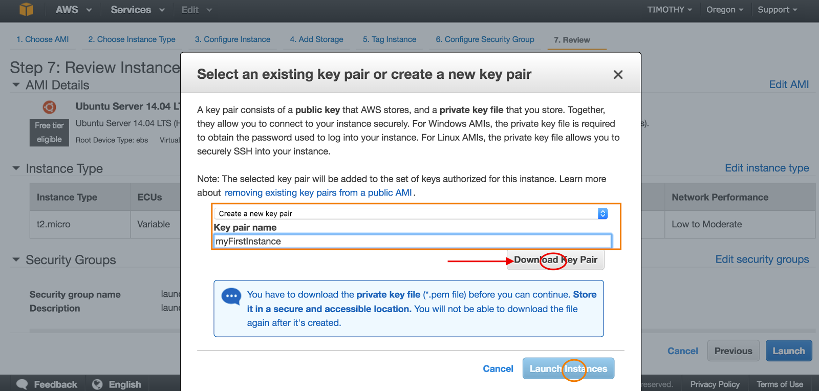 Download Key Pair