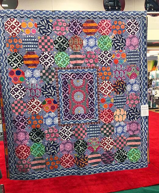 Mediterranean Tiles Quilt Designed by Kaffe Fassett for Free Spirit Fabrics