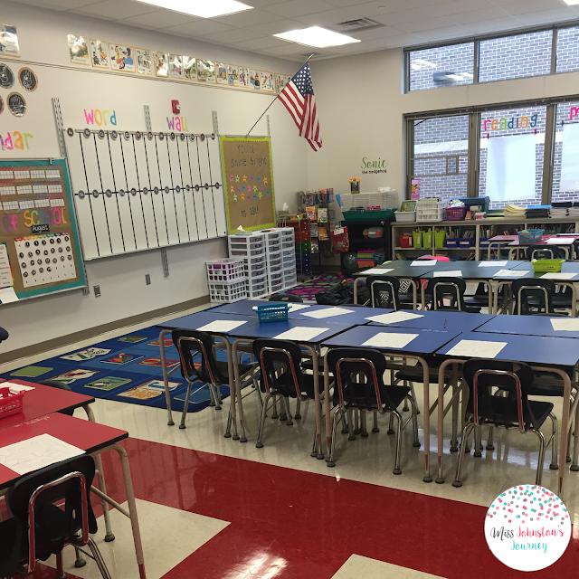 1st grade classroom setup