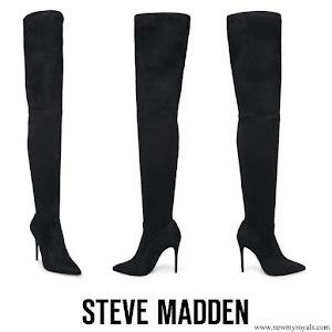 Queen Letizia wore Steve Madden Suede Dominique Long Boots