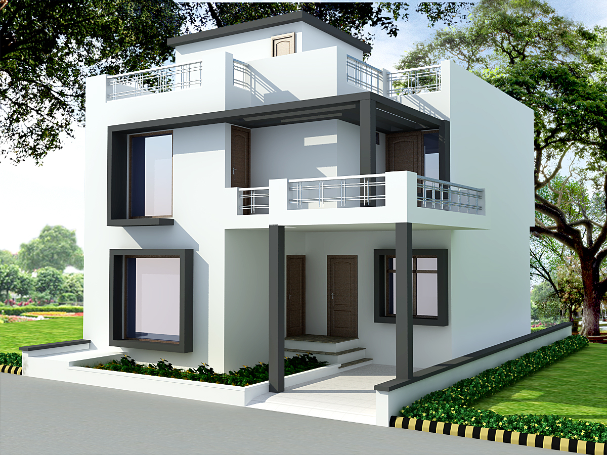 Apna ghar house design ask home design for Normal house front design
