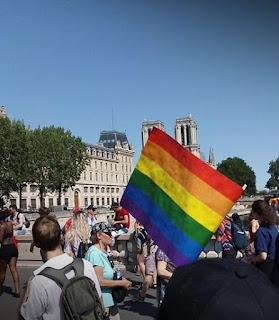 Gay Pride parade in Paris, June 2019