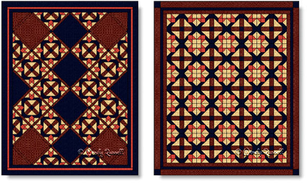 Quilts designed using the DAVID AND GOLIATH quilt block - images © Wendy Russell