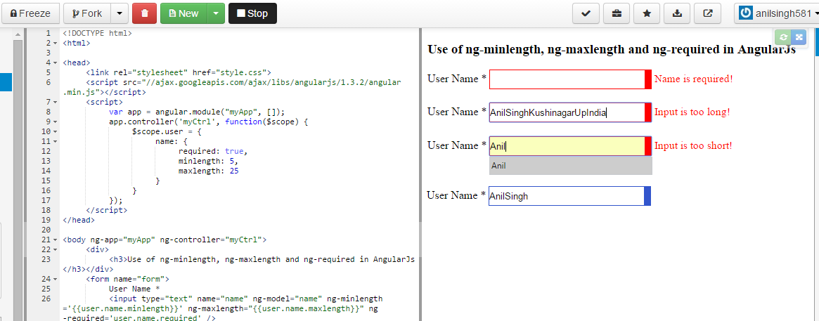 Angular js form validation with ngmessages shashi-19-7-16.