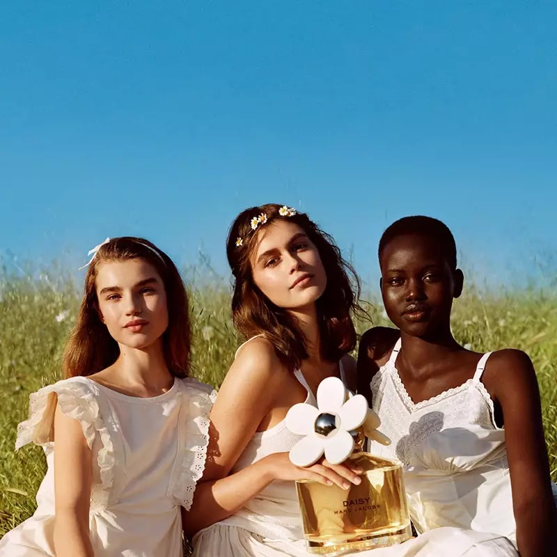 Megan Roche, Kaia Gerber and Adut Akech star in Marc Jacobs Daisy fragrance campaign