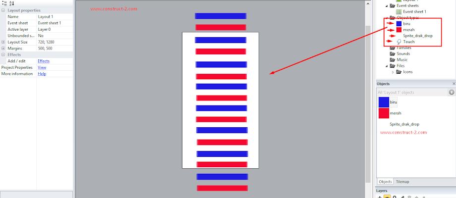 Construct 2 Tutorial Scrool Objsct atas bawah kiri kanan