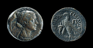 Coin depicting Cleopatra, minted in Alexandria