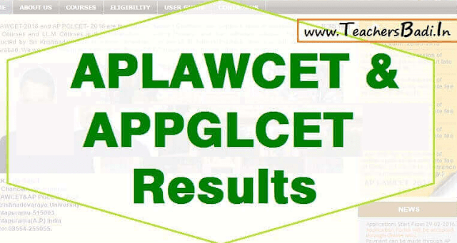 APLAWCET 2018 Results, APPGLCET 2018 Results