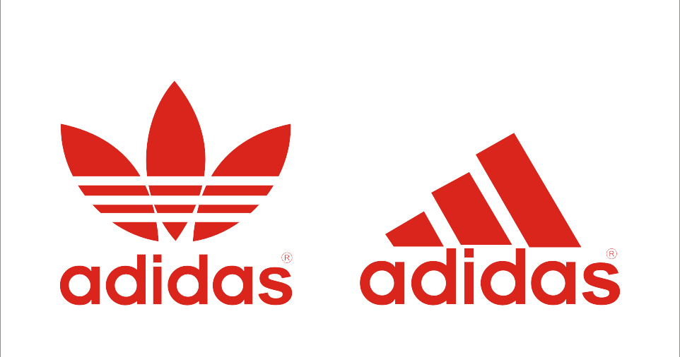 Red Adidas Logo Shoes