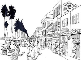 Venice beach sketch