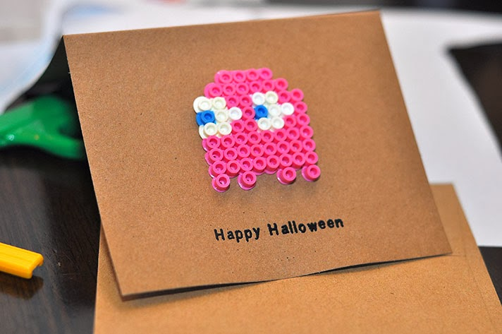 DIY Halloween Card with Perler Beads
