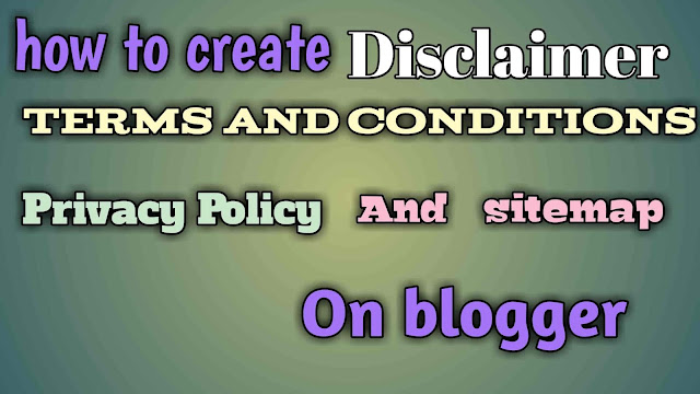 How to create terms and conditions